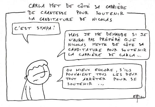 Carla renonce à la chanson pour Nicolas Sarkozy
