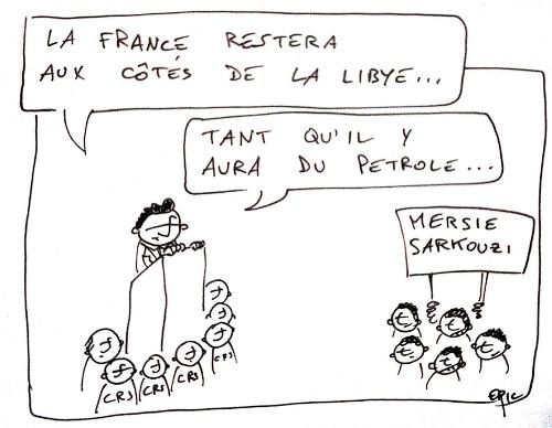Sarkozy en visite à Tripoli